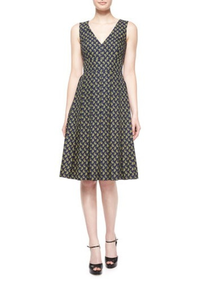Michael Kors Sleeveless Paisley Fit-&-Flare Dress