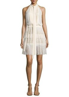 Michael Kors Collection Sleeveless Tie-Neck Pleated Dress