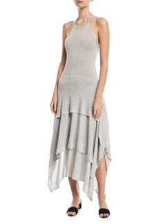 Michael Kors Collection Sleeveless Tiered Jersey Dress