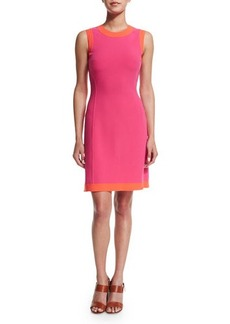 Michael Kors Collection Sleeveless Two-Tone A-Line Dress