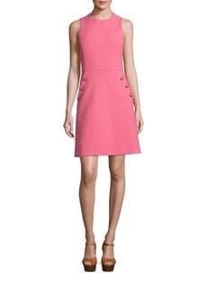 Michael Kors Collection Solid Cotton-Blend Dress