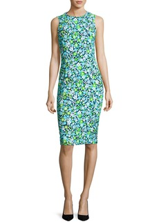 Michael Kors Collection Spring Floral Sleeveless Sheath Dress