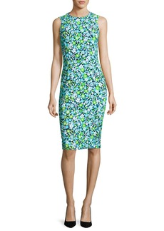 Michael Kors Collection Spring Floral Sleeveless Sheath Dress