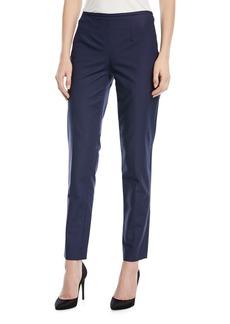 Michael Kors Collection Straight-Leg Side-Zip Pants