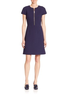 Michael Kors Collection Stretch Boucle Crepe Belted Dress