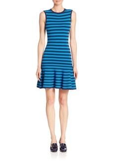 Michael Kors Collection Striped Flounce Dress