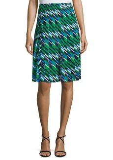 Michael Kors Collection Striped Multi-Pleat A-Line Skirt
