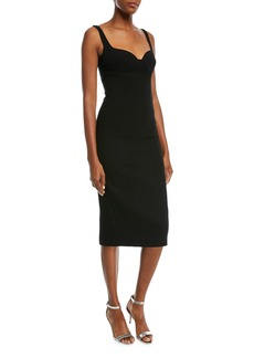 Michael Kors Sweetheart-Neck Stretch-Boucle Sheath Cocktail Dress