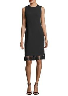 Michael Kors Collection Tassel-Trim Sleeveless Shift Dress