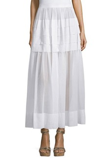 Michael Kors Tiered Cotton Maxi Skirt