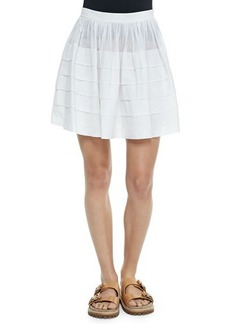 Michael Kors Tiered Cotton Miniskirt