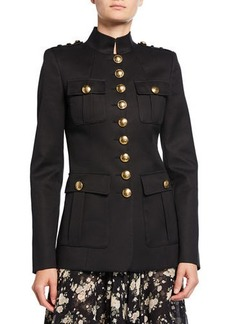 Michael Kors Collection Twill Military Jacket