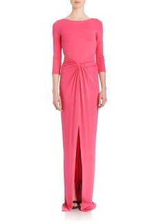 Michael Kors Collection Twist-Front Jersey Gown