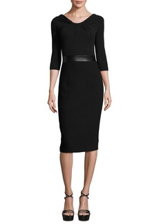 Michael Kors Collection Twisted Off-the-Shoulder Sheath Dress