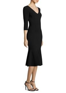 Michael Kors Collection V-Neck Flare Dress