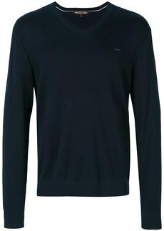 Michael Kors Collection v-neck jumper - Blue
