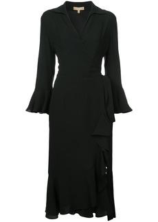 Michael Kors V-neck ruffle dress