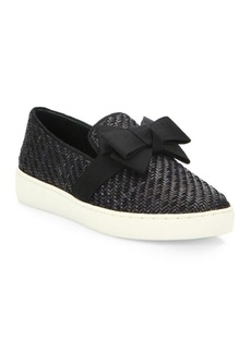 Michael Kors Collection Val Woven Bow Skate Sneakers