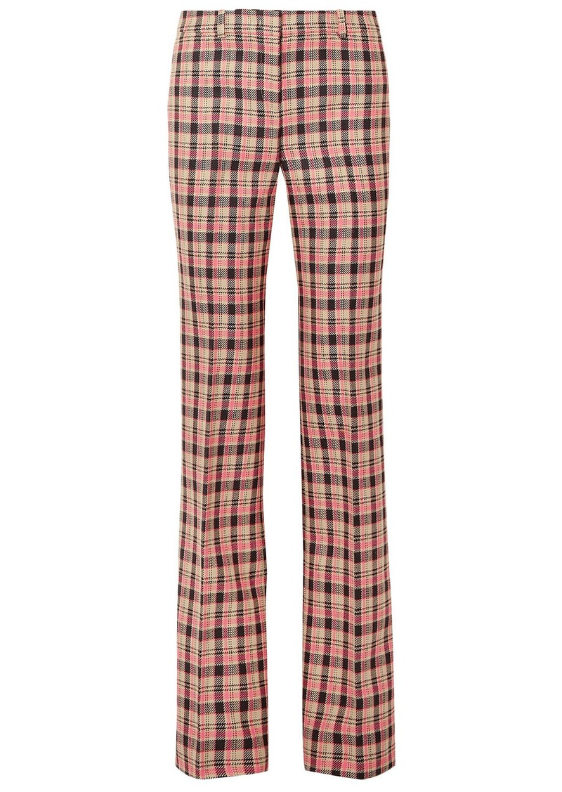 Michael Kors Collection Woman Checked Wool Bootcut Pants Antique Rose