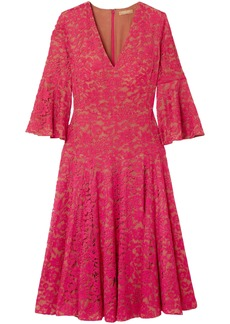 Michael Kors Collection Woman Corded Lace Dress Fuchsia