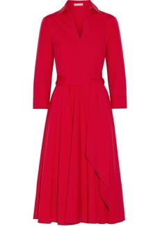 Michael Kors Collection Woman Cotton-blend Poplin Midi Wrap Dress Red