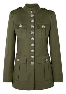 Michael Kors Collection Woman Cotton-twill Jacket Army Green