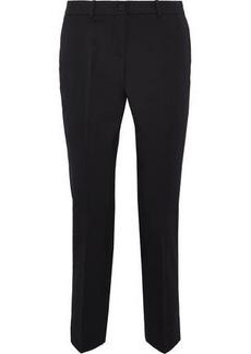 Michael Kors Collection Woman Cropped Stretch-wool Twill Slim-leg Pants Black