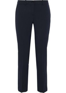 Michael Kors Collection Woman Cropped Stretch-wool Twill Slim-leg Pants Midnight Blue