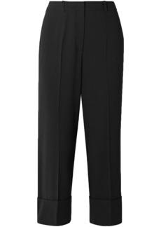 Michael Kors Collection Woman Cropped Wool Straight-leg Pants Black