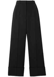 Michael Kors Collection Woman Cropped Wool-twill Straight-leg Pants Black
