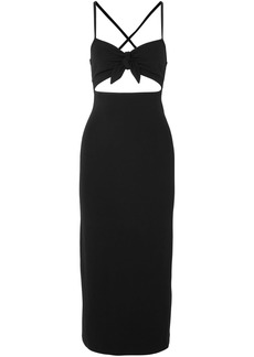 Michael Kors Collection Woman Cutout Stretch-jersey Midi Dress Black