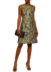 Michael Kors Collection Woman Flared Metallic Brocade Dress Gold
