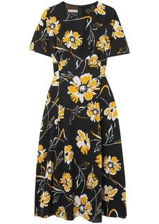 Michael Kors Collection Woman Floral-print Silk Dress Black