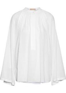Michael Kors Collection Woman Gathered Cotton-gauze Blouse White