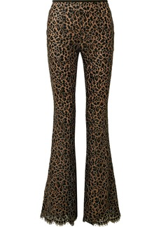 Michael Kors Collection Woman Guipure Lace Flared Pants Black