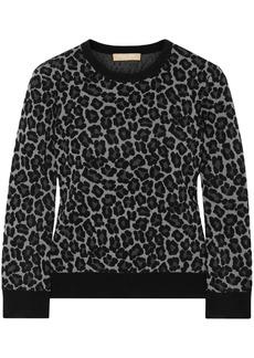 Michael Kors Collection Woman Jacquard-knit Sweater Gray