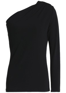 Michael Kors Collection Woman One-shoulder Jersey Top Black