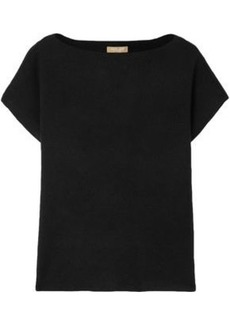 Michael Kors Collection Woman Ribbed Cashmere-blend Sweater Black