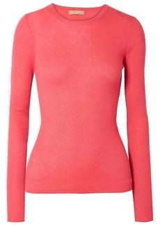 Michael Kors Collection Woman Ribbed Cashmere Sweater Papaya