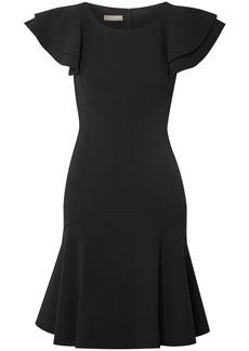 Michael Kors Collection Woman Ruffled Wool-blend Dress Black