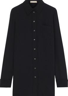 Michael Kors Collection Woman Silk-blend Crepe Shirt Black