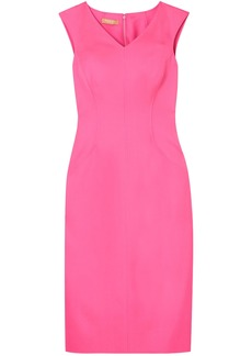 Michael Kors Collection Woman Stretch-silk Crepe Midi Dress Pink