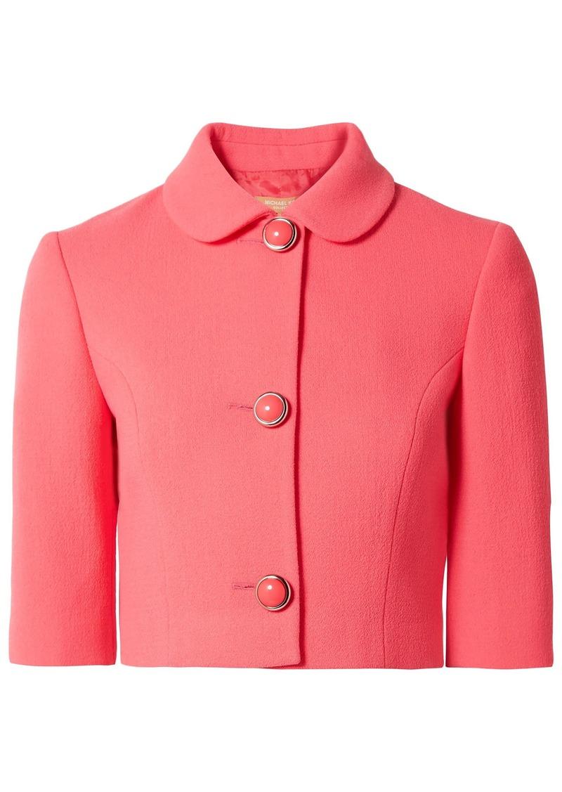 Michael Kors Collection Woman Stretch-wool Bouclé Jacket Bubblegum