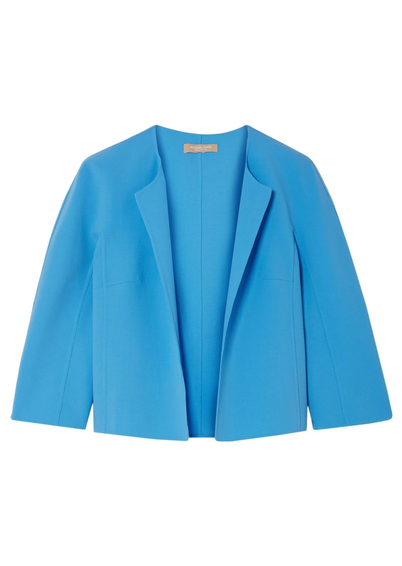 Michael Kors Collection Woman Stretch-wool Crepe Jacket Azure