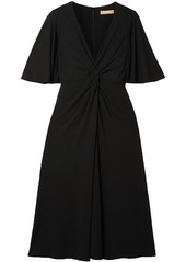 Michael Kors Collection Woman Twisted Stretch-crepe Dress Black