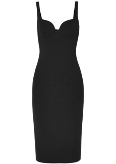 Michael Kors Collection Woman Wool-blend Crepe Dress Black
