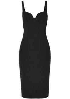 Michael Kors Collection Woman Wool-blend Crepe Dress Black