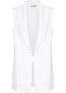 Michael Kors Collection Woman Wool Angora And Cashgora-blend Vest White