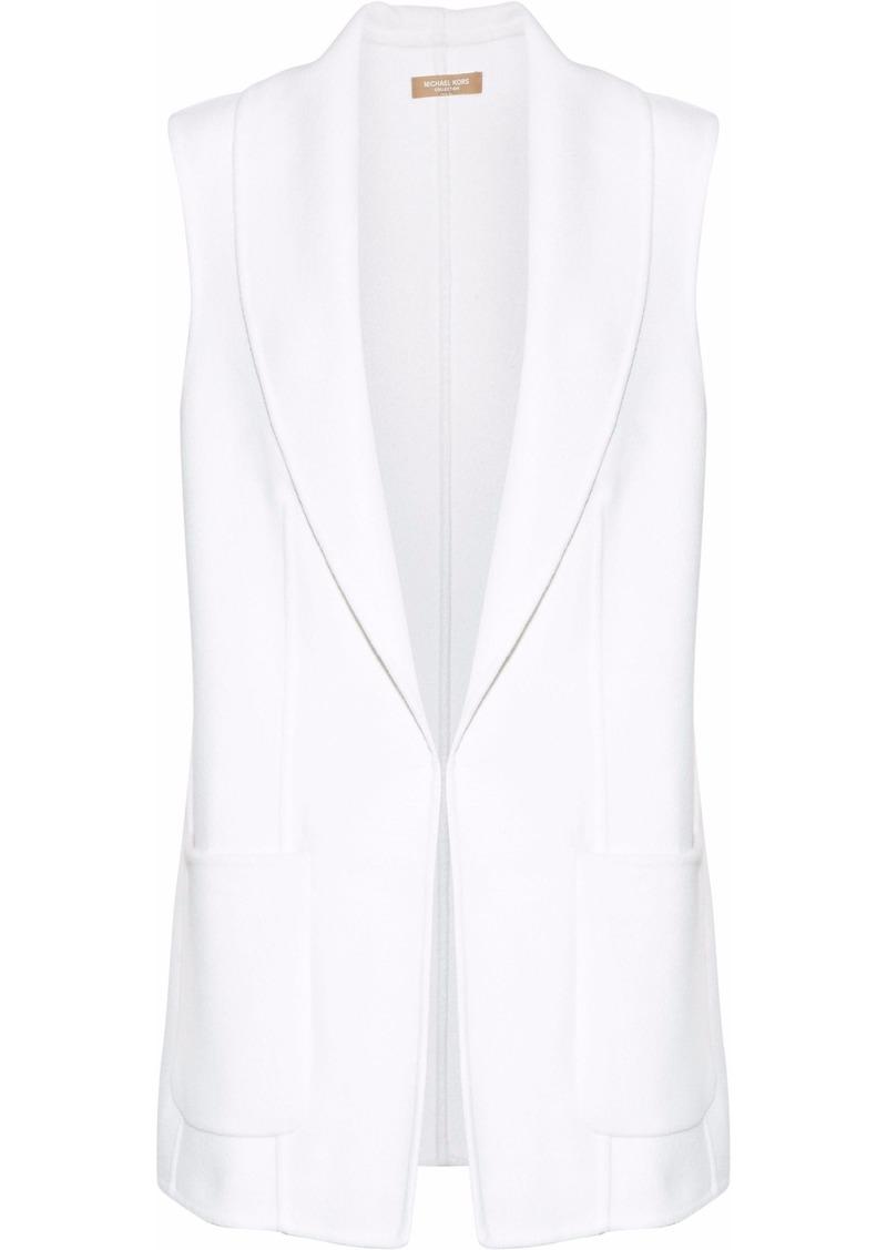 Michael Kors Collection Woman Wool-blend Vest White