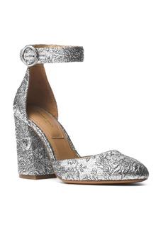 Michael Kors Collection Women's Rena Brocade Ankle Strap Pumps